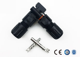 Male / Female PC Solar Panel Connectors IP67 30A Rated Current Excellent Performance